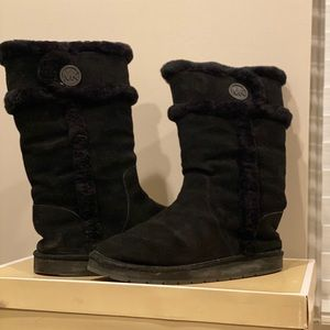 Michael Kors Black Suede Warm Weather Boots